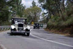 Corrida del coche de la vendimia Fotos de archivo libres de regalías