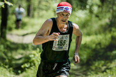 corrida do ancião Fotos de Stock Royalty Free