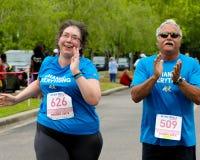 Corrida do dia 5K das mamãs Foto de Stock Royalty Free