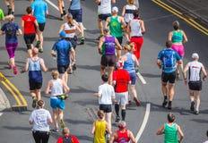 Corrida dos povos da maratona Fotografia de Stock Royalty Free