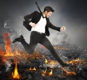 Corrida em carvões quentes Fotografia de Stock
