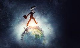 Corrida em todo o mundo Meios mistos Imagens de Stock Royalty Free