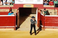 Corrida en plaza de toros en España. Foto de archivo