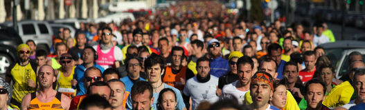 corrida 5K Foto de Stock