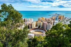 Corrida in Malaga Spanje stock afbeelding