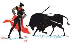 Corrida vector illustration silhouette, spain tradition