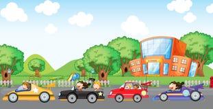 Corridas de carros das crianças Fotos de Stock