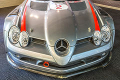 Corridas de carros: Mercedes Benz SLR Imagens de Stock