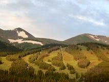 Corridas de esqui Fotografia de Stock Royalty Free