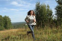 Corridas de la mujer Fotografía de archivo libre de regalías