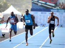 Corridas de Usain Bolt foto de stock