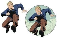 Corridas e gritos do homem Ilustração conservada em estoque Fotos de Stock Royalty Free