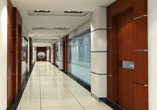corridoio 3d Fotografia Stock