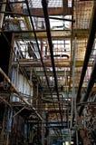 corridoio abbandonato della fabbrica Immagine Stock