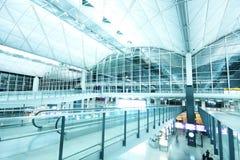 Corridoio all'aeroporto Fotografie Stock Libere da Diritti
