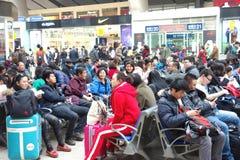 corridoio aspettante ferroviario Immagine Stock Libera da Diritti