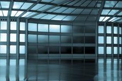 Corridoio astratto in azzurro Fotografie Stock Libere da Diritti