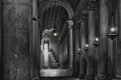 Corridoio B&W di Vatican immagine stock libera da diritti