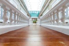 Corridoio bianco di prospettiva fotografie stock libere da diritti