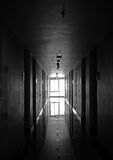 Corridoio in bianco e nero Fotografia Stock Libera da Diritti