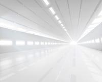 Corridoio bianco vuoto Illustrazione di vettore Fotografia Stock Libera da Diritti
