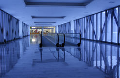 Corridoio blu Immagine Stock Libera da Diritti