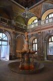 Corridoio centrale - bagni imperiali austriaci - Herculane Immagini Stock