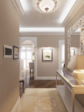 Corridoio classico e lussuoso elegante Fotografia Stock