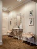 Corridoio classico e lussuoso elegante Fotografie Stock Libere da Diritti