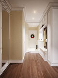 Corridoio classico e lussuoso elegante Immagini Stock
