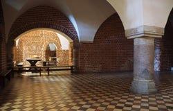 Corridoio con la colonna Fotografia Stock