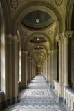 Corridoio con la colonnato Fotografia Stock