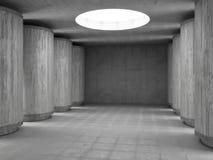 Corridoio concreto Fotografia Stock