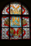 Corridoio d'annata del vetro macchiato Fotografie Stock Libere da Diritti