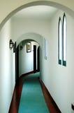 Corridoio d'annata dell'hotel Fotografia Stock Libera da Diritti