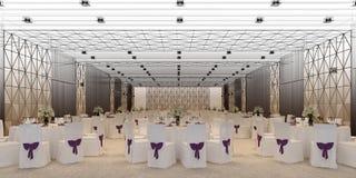 Corridoio 3d di banchetto, rendente Immagine Stock Libera da Diritti