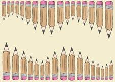 Corridoio dalle matite illustrazione di stock