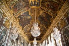 Corridoio degli specchi a Versailles fotografie stock libere da diritti