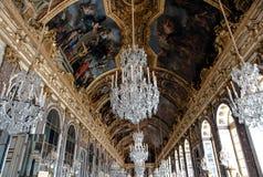 Corridoio degli specchi, Versailles fotografie stock libere da diritti