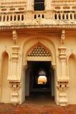 Corridoio del campanile al palazzo di maratha del thanjavur Fotografia Stock