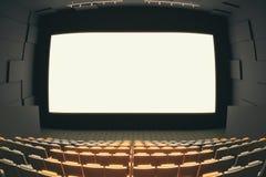 Corridoio del cinema attraverso l'occhio di pesce Fotografie Stock Libere da Diritti