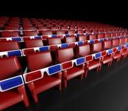 Corridoio del cinematografo e vetri vuoti 3d Immagini Stock Libere da Diritti
