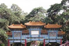 Corridoio del cinese tradizionale Immagini Stock Libere da Diritti
