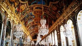 Corridoio del cristallo dentro il palazzo di Versailles Immagine Stock