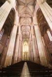 Corridoio del main del monastero di Batalha Immagine Stock Libera da Diritti