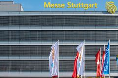 Corridoio del mercato internazionale a Stuttgart, Germania immagine stock libera da diritti