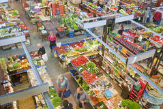 Corridoio del mercato a Wroclaw, Polonia Fotografia Stock Libera da Diritti