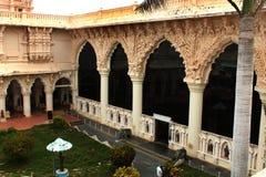 Corridoio del museo del palazzo di maratha del thanjavur Immagini Stock Libere da Diritti