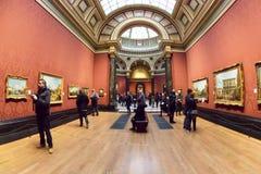 Corridoio del National Gallery, Londra Fotografia Stock