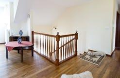 Corridoio del pavimento di legno duro Fotografia Stock Libera da Diritti